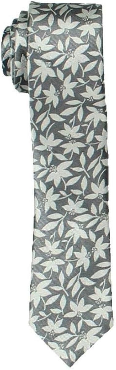 Bar III Mens Bossen Silk Floral Print Neck Tie