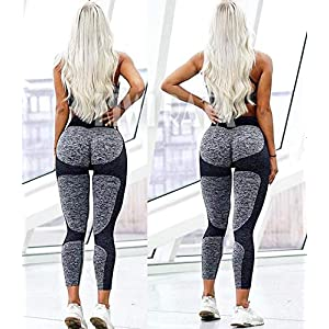 KIWI RATA Women's High Waist Active Seamless Compression Fitness Leggings Running Workout Slim Butt Lift Yoga Pants (#1 Heart Booty Black, Medium)