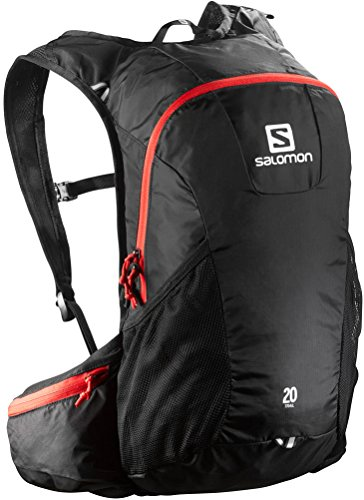 Salomon Trail 20 Backpack, Unisex Adulto, Negro (Black/Bright Red), 48 cm