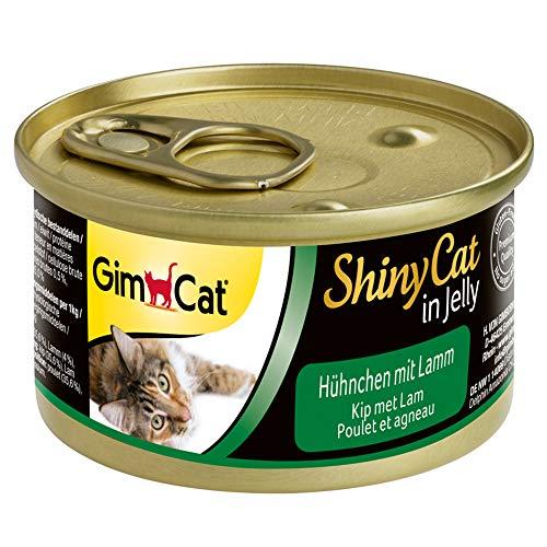 GimCat 414584 ShinyCat in Jelly Pollo con Cordero, 24 x 70 g, 1680