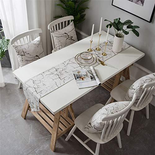 YUNSW Kreative Marmorblume Tischläufer, amerikanisches Landfeiertagsgeschenk Teetischdecke TV-Schrankbett Flaggen-Tischläufer, geeignet für Partydekoration Tischläufer