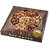 Holiday Nuts Gift Basket - Fresh Sweet & Salty Dry Roasted Gourmet Nuts Gift Basket - Food Gift Basket for Christmas, Thanksgiving, Fathers Day, Mothers Day Sympathy, Family, Men & Women