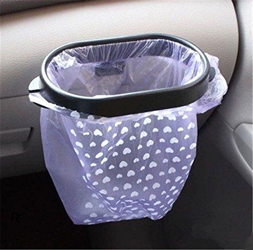 Generic nuevo diseño coche basura bolsa de rack de almacenamiento soporte con ventosa bolsa de basura basura para percha removible Coche Percha cinta adhesiva