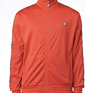 Fila Mens Top Down Track Jacket Red L