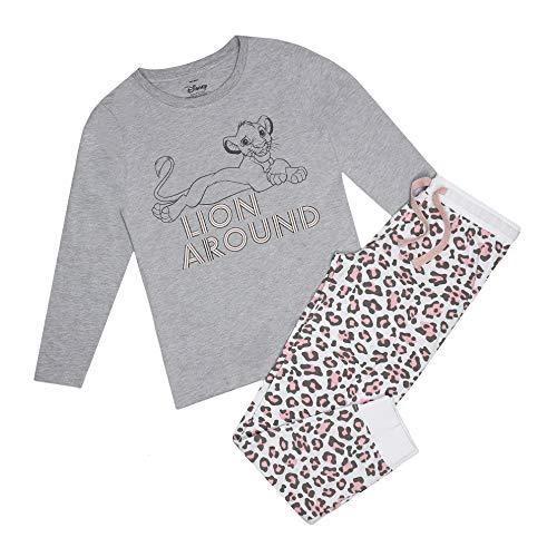 Disney King Lion Around Pyjama Set Juego de Pijama, Multicoloured, 12 Regular para Mujer