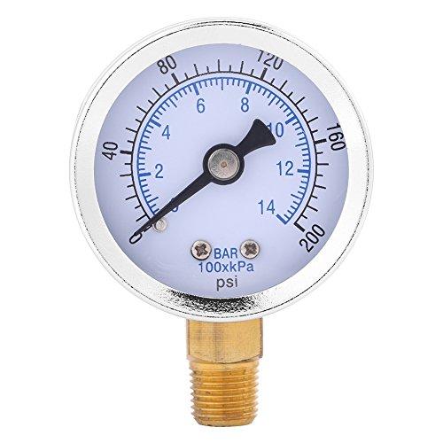 Manometer,Jectse 0-200 psi 0-14 bar 1/8