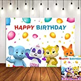 Cartoon Confetti Balloon Baby Animals...