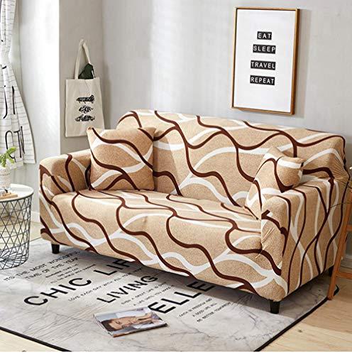 Flqwe bankovertrek, model L, rekbaar, sofaovertrek, elastisch, voor woonkamer, bank, met elastische bodem