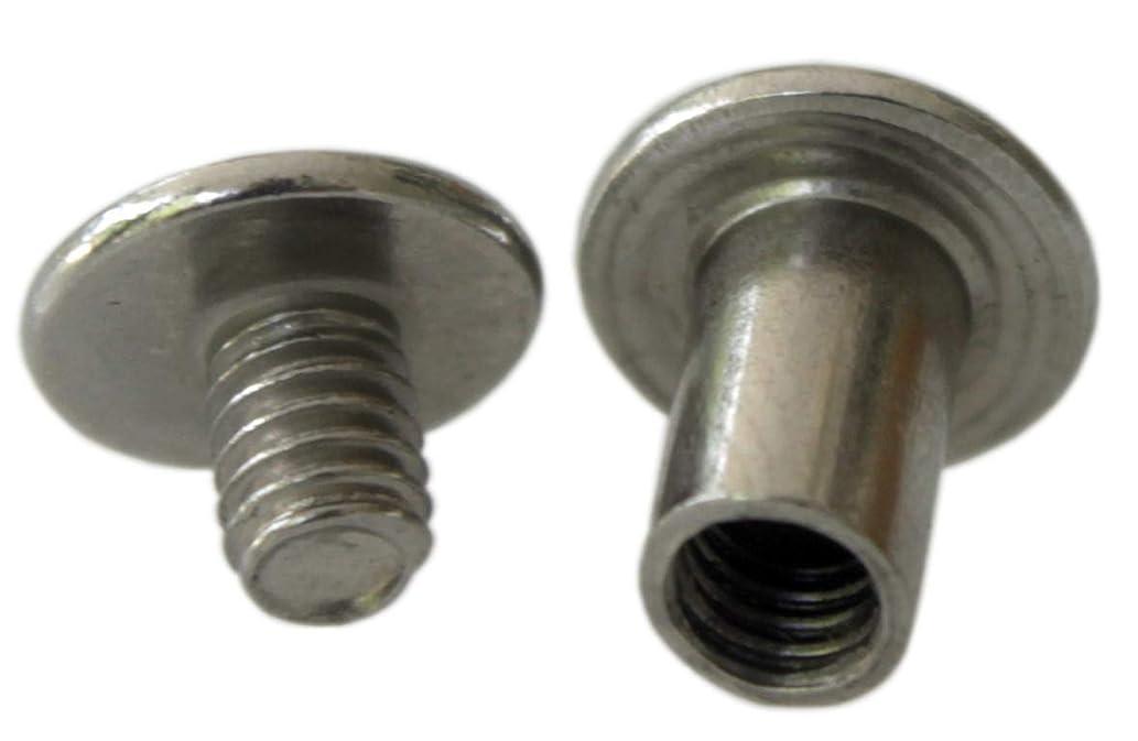 NDC 3/8 inch Stainless Steel Chicago Screws Binder Posts 25 Sets