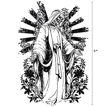 Temporary Tattoos for Men large Size Black Full Back New Cool Fake Tattoo Grim Reaper Skull Tattoos Art Stickers