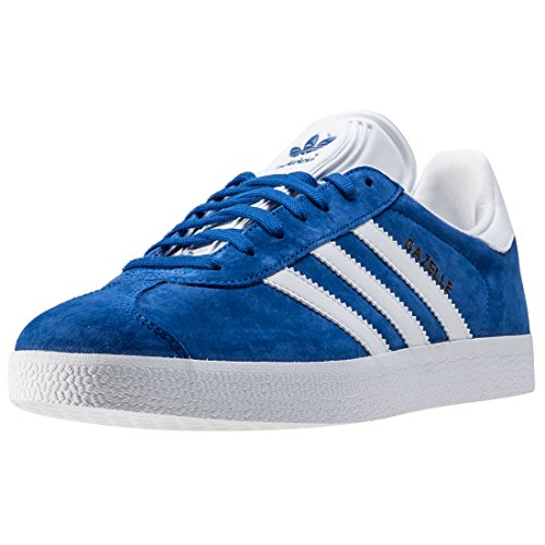 adidas Gazelle, Baskets Homme, Bleu (Collegiate Royal/White/Gold Metallic 0), 43 1/3 EU