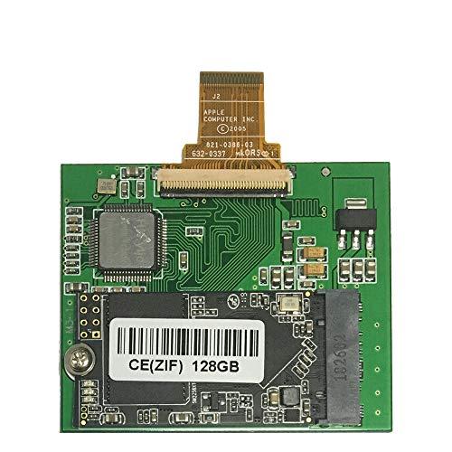 128GB SSD for iPod Classic 6th 7th iPod Video 5Gen 5.5th Replace HS081HA MK8010GAH MK8022GAA MK1634GAL MK1231GAL ZIF CE Solid State Drive (128GB)