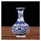 Maceteros de interior Florillas de cerámica de la decoración del hogar de la vendimia para las casas antiguo tradicional chino azul y blanco florero de porcelana para flores Paletas para DecoracióN de