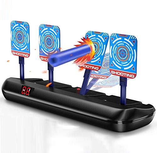WECATION Electric Shooting Target, Digital Targets for Nerf Guns Toys, Auto Reset Ideal Gift Toy