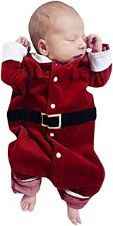 Hmlai Clearance Toddler Baby Boys Girls Long Sleeve Christmas Pajamas Jumpsuit Bodysuit Romper Cotton One-Piece Coverall