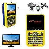 Freesat V8 Finder DVB S2 Sat Localizador satelite Buscador de Satélite Medidor de Campo FTA Receptor de Señal de Satélite de TV Digital HD, 3.5' LCD Batería 3000mAh Incorporad
