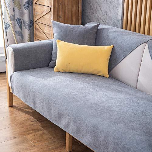 kinfuki Sofa Settee Cover Washable Furniture Protector,Fabric Anti-slip Sofa Cushion Cover Towel Cover (Free 2 Pillow Cases)-Dark Gray_110*180