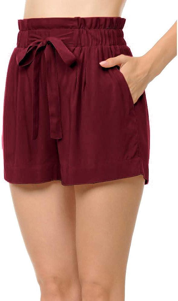Womens SweatyRocks Womens Casual Summer Beach Shorts with Pocket