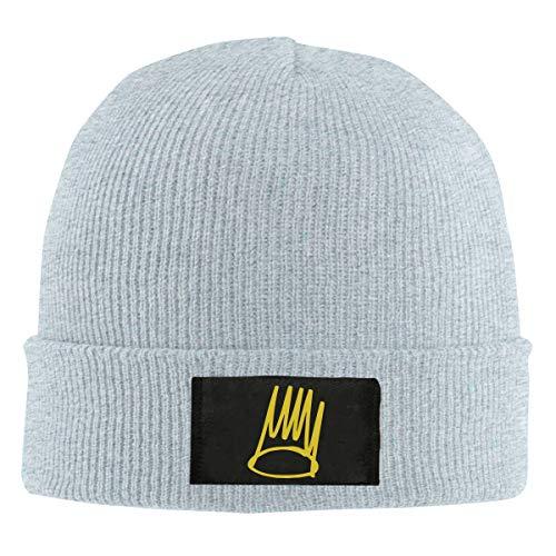 J. Cole Born Sinner Crown Knit Beanie Cap Warm Sozy Unisex Classic Hat Gray