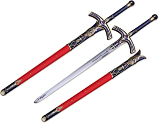 "Mingshao High Carbon Steel 46"" Fate of Stay The Night Saber The Lily Avalon Matel Full Size Sword Anime"