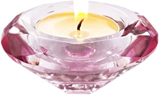 AiFanS Tea Light Holders Glass,Tea-Light Candle Holders (Pink,7.5cm,Set of 6)
