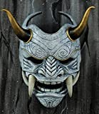 tripple_777 Samurai Assassin Demon Oni Airsoft Mask BB Gun Halloween Costume Ninja Warrior Evil Cosplay White DA02