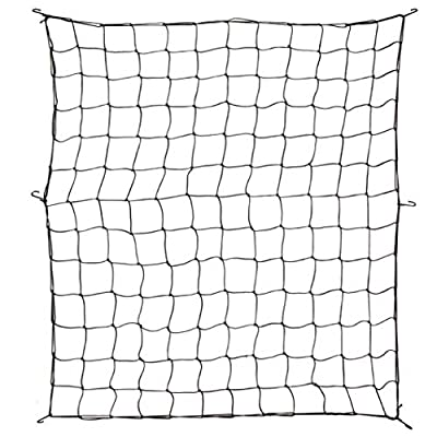 4' × 4' Flexible Net Trellis for Grow Tent with 4 Hooks- Grow Tent Net Elastic Net Trellises Plant Growing Netting for Garden Balcony Yard Plants Growing and Climbing