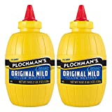Plochman's Original Mild Classic Yellow Mustard, 19 Oz (2 Pack)