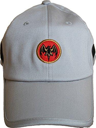 Bacardi Cap Mütze Schirmmütze Basecap grau mit Fledermaus-Logo