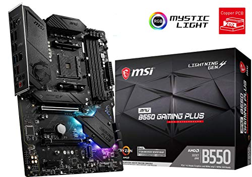 MSI MPG B550 Gaming Plus AMD AM4 DDR4 M.2 USB 3.2 Gen 2 HDMI ATX Gaming Motherboard, 7C56-003R