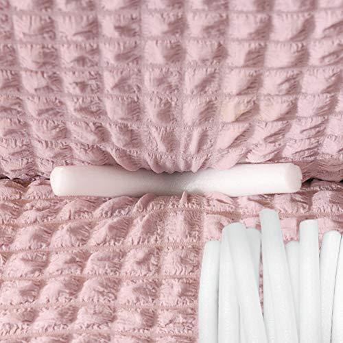 BoruisX Bastones de espuma antideslizantes para funda de sofá elástica, fundas de sofá, tiras de costura, varillas de espuma para fundas de sofá elásticas (diámetro de 2,5 cm, 10 unidades)
