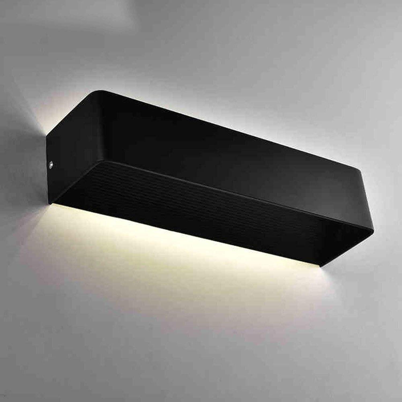 Badewanne Spiegel Lampen - Badezimmer Beleuchtung Hintergrund Wandleuchte Rechteck kreative Nachttischlampe für Gang Badezimmer Schlafzimmer - Make-up-Spiegel Scheinwerfer (Farbe  Schwarz-26 cm-5W)