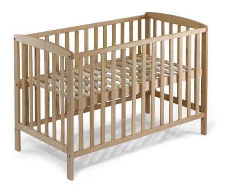 KOKO Babybett Gitterbett Kinderbett MIA BUCHE 120x60 cm naturbelassen