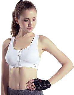 Women's Quick-Drying Sports Bra Underwear Underwear Women's Front Zipper Without Steel Ring Yoga Vest Fitness Shockproof B...