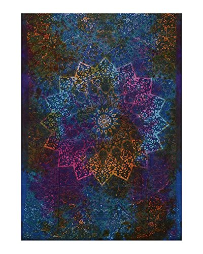 Twin Blue Tie Dye Bohemian Tapestry Elephant Star Mandala Tapestry Tapestry Wall Hanging Boho Tapestry Hippie Hippy Tapestry Beach Coverlet Curtain by Craftozone