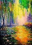 Vfvozr Principiantes de Pintura Digital Paisaje y arboles para Adultos 8 Pinturas con Pintura Digital Kit de Pintura acrílica de 28 Colores 40x50cm Marco de Bricolaje