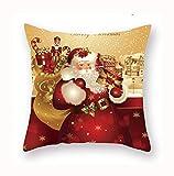 LIUJJ Christmas Pillowcase Merry Christmas Decor for Home Christmas Ornaments Navidad Xmas New Year 2021 Santa 45cm Natal Noel,6