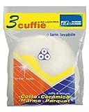 Parodi&Parodi Pulizia Cuffia Lana 3 Dischi Lucidatrice, Tessuto, Bianco, 14x23x1 cm, 3 unità