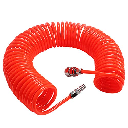 Compressed Air Spiral Hose WENTS Coiled air Hose 6 m with Connector High...