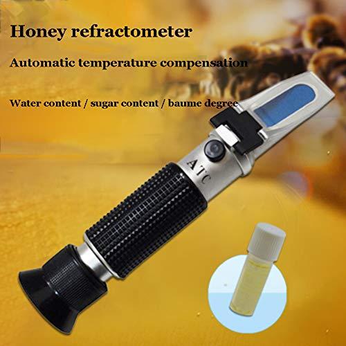 XFY Rifrattometro al Miele 58-90%, Rifrattometro con Compensazione Automatica della Temperatura, Ideale per Misurare L'umidità del Miele e Il Contenuto di Zucchero