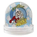 Palla Globo di neve modello #Pinocchio - La Vita è avere naso# da 9x9cm. Versione con neve in sospensione. Sfera di vetro ornamentale, come idea regalo, o per dare un tocco speciale al tuo arredamento. PRODOTTO UFFICIALE. L'intera gamma, certificata ...