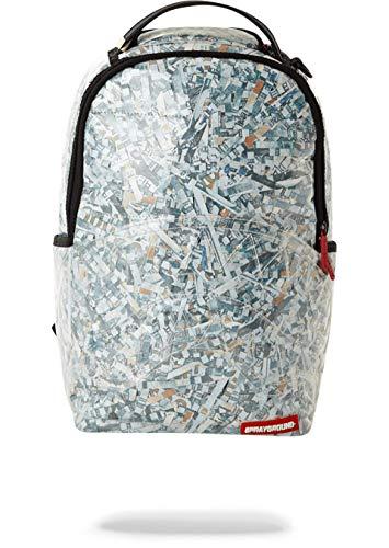 SPRAYGROUND - ZAINO UNISEX SHREDDED MONEY - RITAGLI DOLLARI - COVER PVC TRASPARENTE