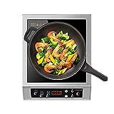 3500W Placa De Inducción Portátil, Placa Inducción 8 Niveles De Potencia Cocina De Inducción Eléctrica Temporizador De 3horas Para Casa Comercial Cocinando