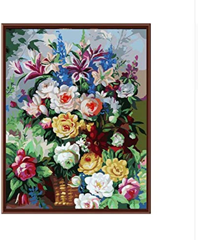 CZYYOU Bilder Digitale Ölgemälde Dekorative Bilder Handgemalte Leinwand Malen Nach Zahlen Blaume 40x50cm-Mit Rahmen B07PNHJWC8 | Fairer Preis