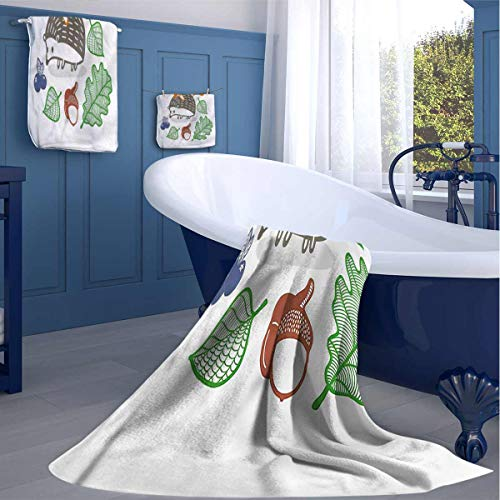 HOMEDECORATIONS Hedgehog Fitness Sweat Towel Colorful Animal Food Soft After a Wash washcloths Gifts for Best Friend