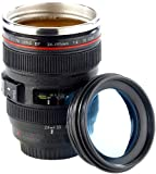 Somikon Objektiv Becher: Kameraobjektiv-Becher, doppelwandig, innen Edelstahl, 300 ml (Objektiv Tasse)