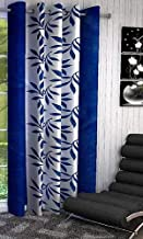 Cozyland Super India Floral Polyester Window Curtain - 5ft, Blue