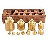 aubaho Gewichtsatz 1 bis 200g für Waage Goldwaage Balkenwaage Apothekerwaage Antik-Stil
