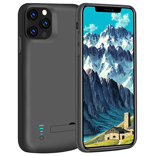 LOYTAL Battery Case for iPhone 12 & iPhone 12 Pro, 5000mAh Rechargeable Extended Battery Charging/Charger Case, Add 100% Extra Juice, Support Wire Headphones (6.1 inch)