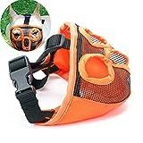 JWPC Bozal Corto para Perro con bozal Ajustable, bozal de Bulldog Transpirable, máscara para Masticar ladridos, para Perros pequeños, medianos y Grandes
